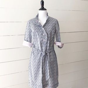 "Lilly Pulitzer ""Brinkley"" Navy Shift Shirt Dress"